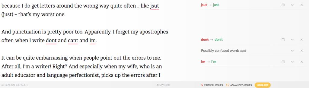 Grammarly Spelling checker