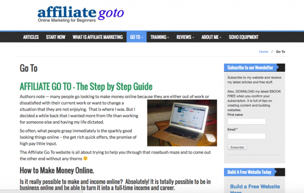 The affiliate goto site