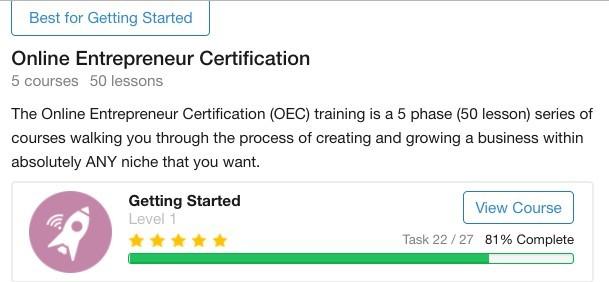 Online Entrepreneur Certificate